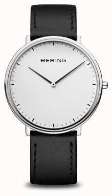 Bering Classico orologio con cinturino in pelle nera unisex 15739-404