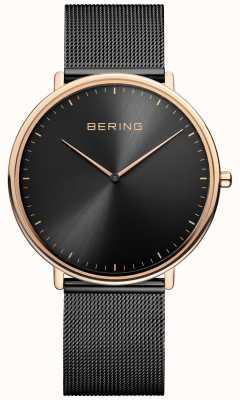Bering Orologio classico unisex nero e oro rosa 15739-166