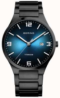 Bering Orologio da uomo in titanio placcato nero 15240-727