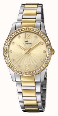 Lotus Bracciale orologio da donna in acciaio oro e argento L18384/1