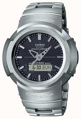 Casio G-shock | bracciale in metallo pieno | quadrante nero | radiocomandato AWM-500D-1AER