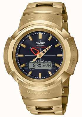Casio G-shock | bracciale in metallo pieno | placcato in oro | radiocomandato AWM-500GD-9AER