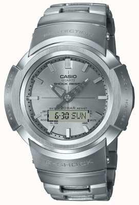 Casio G-shock | bracciale in metallo pieno | radiocomandato AWM-500D-1A8ER
