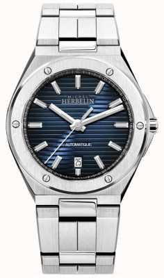 Michel Herbelin Cap camarat | automatico | quadrante blu | acciaio inossidabile 1645/B15