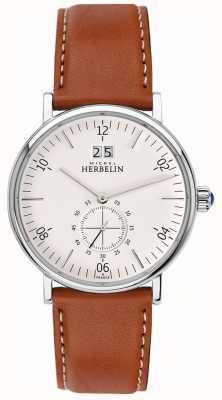 Michel Herbelin Ispirazione | quadrante crema | cinturino in pelle marrone 18247/11GO