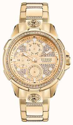 Versus Versace 6eme arrondissment orologio in oro con cristalli crystal VSP1M0521