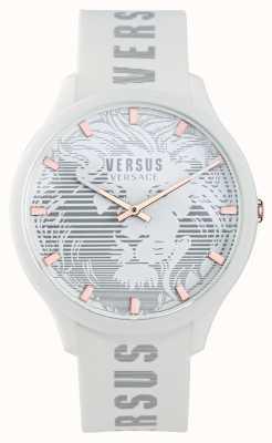 Versus Versace Orologio da uomo con cinturino in silicone bianco domus VSP1O0421