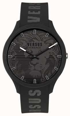 Versus Versace Orologio da uomo con cinturino in silicone nero domus VSP1O0521