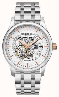 Kenneth Cole Automatico | quadrante argento | bracciale in acciaio inossidabile KC10027198A