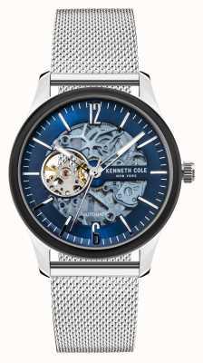 Kenneth Cole Automatico | quadrante blu scuro | maglia di acciaio inossidabile KC50224001A