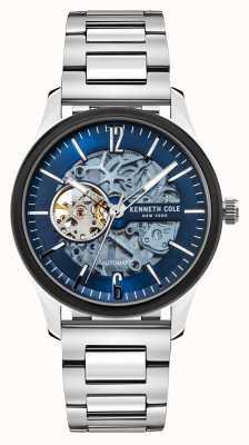 Kenneth Cole Automatico | quadrante blu scuro | bracciale in acciaio inossidabile KC50224001C