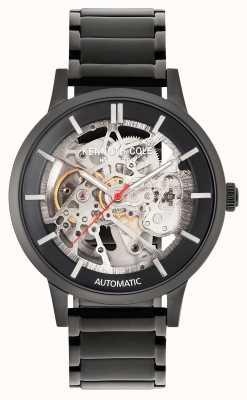 Kenneth Cole Automatico | quadrante nero | bracciale in acciaio inossidabile nero KC50559002