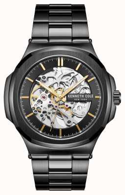 Kenneth Cole Automatico | quadrante nero | bracciale in acciaio inossidabile nero KC51017007