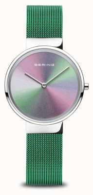 Bering Anniversario | delle donne | argento lucido | braccialetto a maglie verdi 10X31-ANNIVERSARY1