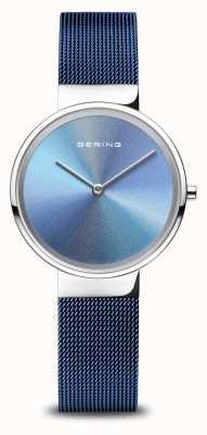Bering Anniversario | delle donne | argento lucido | braccialetto a maglie blu 10X31-ANNIVERSARY2