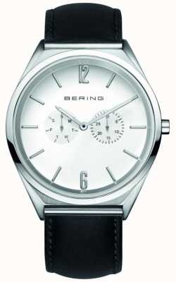 Bering Classico | unisex | cinturino in pelle nera | quadrante bianco 17140-404