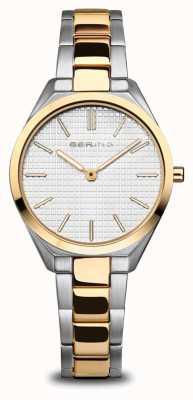 Bering Ultra sottile | delle donne | argento / oro lucido / spazzolato | quadrante bianco 17231-704