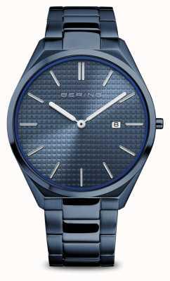 Bering Ultra sottile   uomo   blu lucido / spazzolato   quadrante blu 17240-797