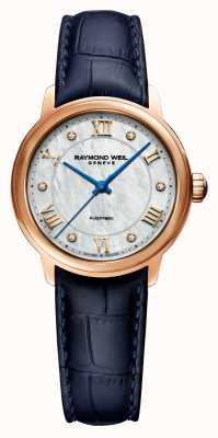 Raymond Weil Maestro delle donne | cinturino in pelle blu | quadrante in madreperla 2131-P53-00966