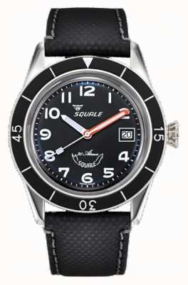 Squale Sotto-39 | arabo nero | quadrante nero | cinturino in pelle nera SUB-39MON