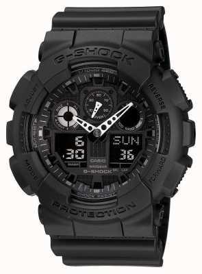 Casio Allarme Cronografo G-shock nero GA-100-1A1ER