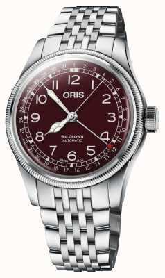 ORIS Grande corona datario quadrante rosso 40 mm 01 754 7741 4068-07 8 20 22