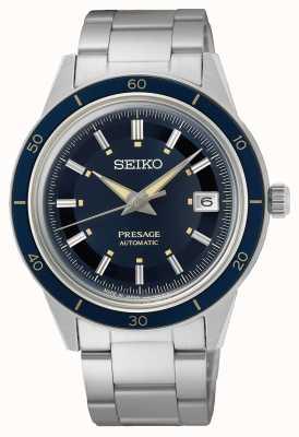 Seiko Orologio con quadrante blu in stile Presage anni '60 SRPG05J1