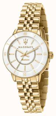Maserati Il successore dell'orologio solare placcato oro da donna R8853145502