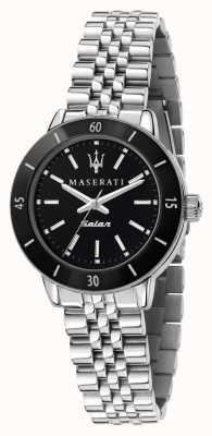 Maserati Successivo orologio da donna con quadrante nero solare R8853145506