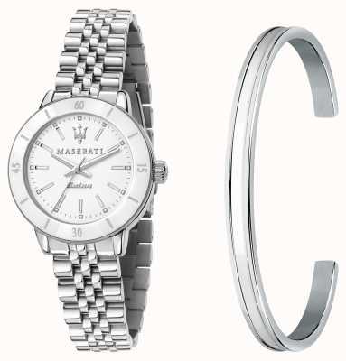 Maserati Set regalo orologio solare da donna Successo e braccialetti R8853145507