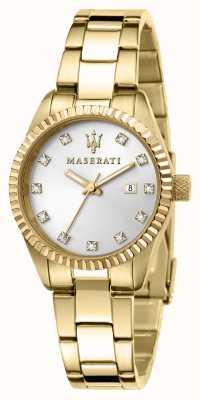 Maserati Orologio donna competizione placcato oro R8853100506