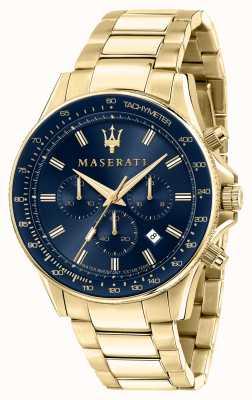 Maserati Orologio da uomo Sfida placcato oro giallo R8873640008