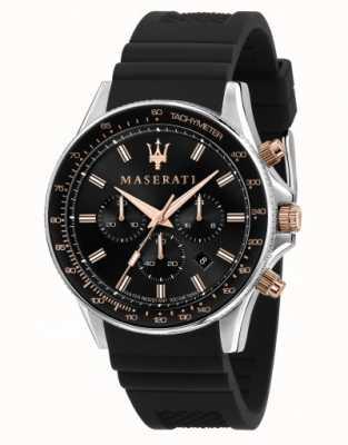 Maserati Orologio da uomo con cinturino in silicone Sfida R8871640002