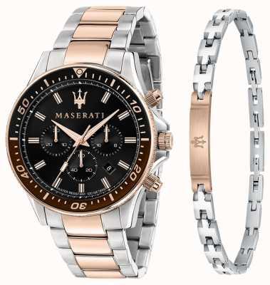 Maserati Set regalo uomo Sfida bracciale e orologio R8873640010