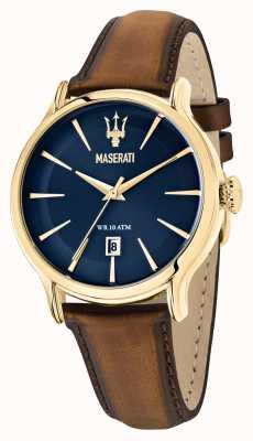 Maserati Cinturino in pelle marrone da uomo Epoca R8851118012