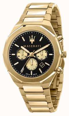 Maserati Stile cronografo da uomo placcato oro giallo R8873642001