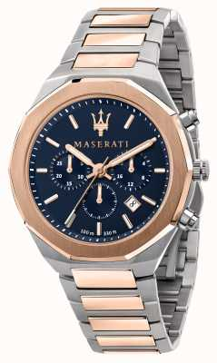 Maserati Orologio stile cronografo da uomo bicolore R8873642002