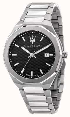Maserati Orologio da uomo stile 3h data quadrante nero R8853142003