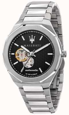 Maserati Stile uomo automatico | bracciale in acciaio inossidabile | quadrante nero R8823142002