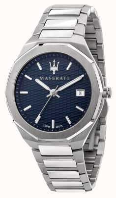 Maserati Orologio da uomo stile 3h data quadrante blu R8853142006