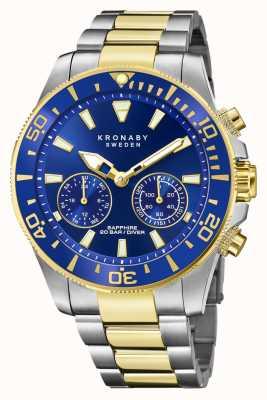 Kronaby Collezione Diver | bluetooth | quadrante blu | bracciale in acciaio bicolore S3779/1