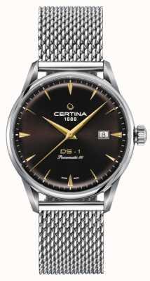 Certina Orologio con quadrante marrone Ds-1 powermatic 80 C0298071129102