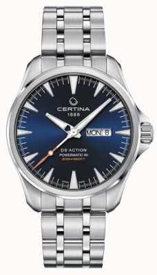 Certina Ds action day-date powermatic 80 quadrante blu C0324301104100