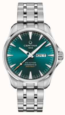 Certina Ds action day-date powermatic 80 quadrante verde C0324301109100