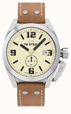 TW Steel Cinturino in pelle marrone mensa da uomo TW1000