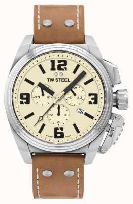 TW Steel Mens cronografo quadrante crema di TW1010