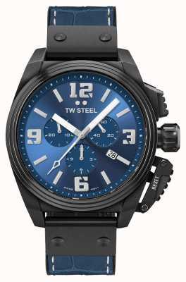 TW Steel Mensa quadrante blu placcato pvd nero TW1016