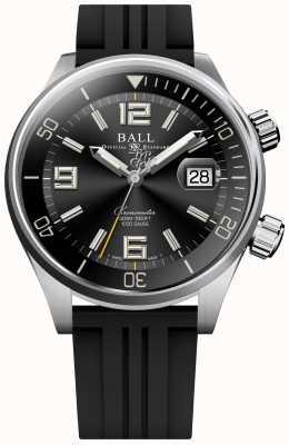 Ball Watch Company Orologio cronometro subacqueo con cinturino in caucciù nero DM2280A-P2C-BK
