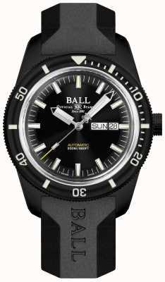 Ball Watch Company Skindiver Heritage cinturino in caucciù nerodi DM3208B-P4-BK