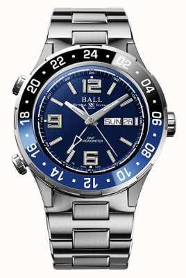 Ball Watch Company Roadmaster marine gmt lunetta in ceramica quadrante blu DG3030B-S1CJ-BE
